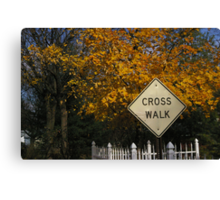 crosswalk in the alley Canvas Print