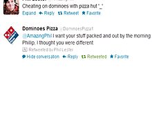 Phil cheats on Dominos by OhMyJo