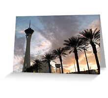 Stratosphere Sunset Greeting Card