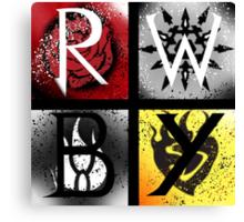 Team RWBY 4 Way Combo Symbols Canvas Print