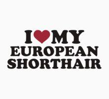 I love my European Shorthair cat Baby Tee