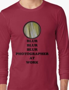 Photographer at work Long Sleeve T-Shirt