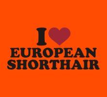 I love European Shorthair cat Kids Clothes