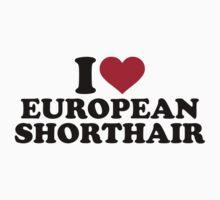 I love European Shorthair cat by Designzz