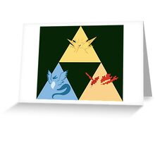 The Legendary Birds Triforce Greeting Card
