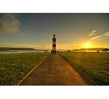 Smeaton's Tower Sunset  Photographic Print