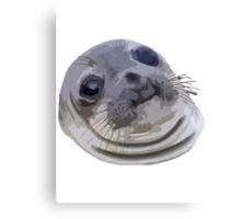 Awkward Seal Canvas Print