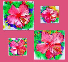 Hibiscus Collage  by Madalena Lobao-Tello