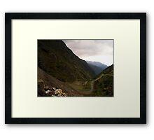 Mountain Pass Framed Print