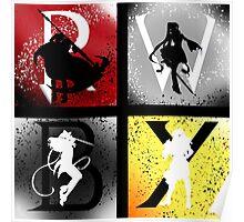 Team RWBY 4 Way Combo Characters Poster