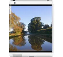 Winter stillness on water iPad Case/Skin