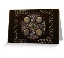 Celtic Cross Full Metal Greeting Card