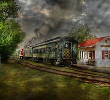 The Train Station by Mike  Savad