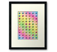 Rainbow Diamond Abstract Two Framed Print