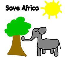Save the Elephants Photographic Print