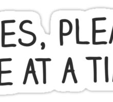 Ladies, Please, One at a Time Sticker