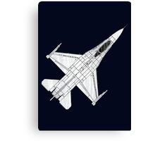 F16 Fighter Aircraft Canvas Print