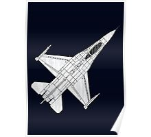 F16 Fighter Aircraft Poster