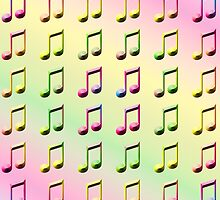 Rainbow Musical Notes Abstract One by ELVSmith03