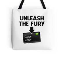 Unleash the Fury Caps Lock Tote Bag