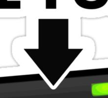 Unleash the Fury Caps Lock Sticker