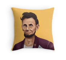 Hipstory- Aabraham Lincoln Throw Pillow