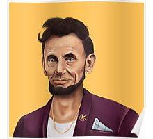 Hipstory- Aabraham Lincoln Poster