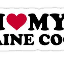 I love my Maine coon cat Sticker