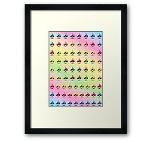 Rainbow Embossed Aces Abstract One Framed Print