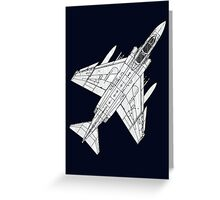 F4 Phantom Fighter Aircraft Greeting Card