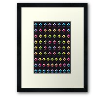 Rainbow Embossed Aces Abstract Two Framed Print