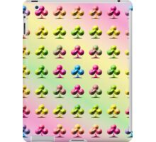 Rainbow Embossed Clubs Abstract One iPad Case/Skin