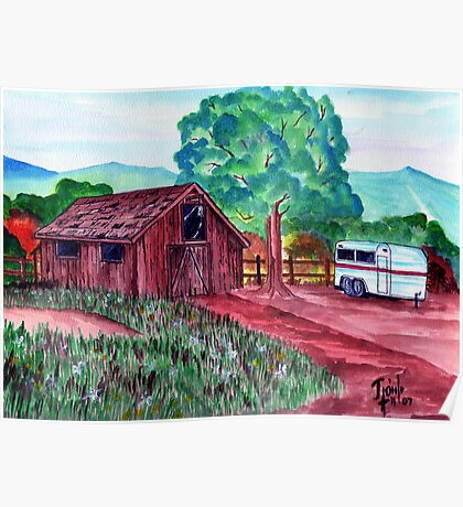 A Barn Yard View Poster