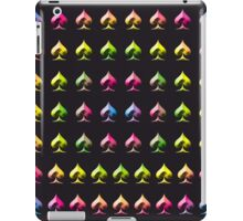 Rainbow Embossed Aces Abstract Two iPad Case/Skin