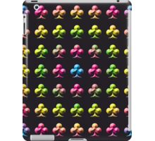 Rainbow Embossed Clubs Abstract Two iPad Case/Skin