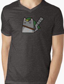 Link Cat Mens V-Neck T-Shirt