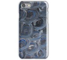 Silver Blue Swirls iPhone Case/Skin