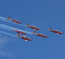RAAF Roulette Air display team by Alwyn Hanson