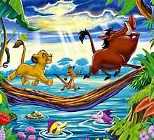 Simba, Timon, and Pumba  by kiddruba