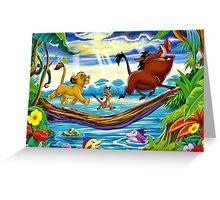 Simba, Timon, and Pumba  Greeting Card