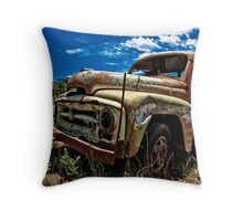 Not another rusty truck shot!! Throw Pillow