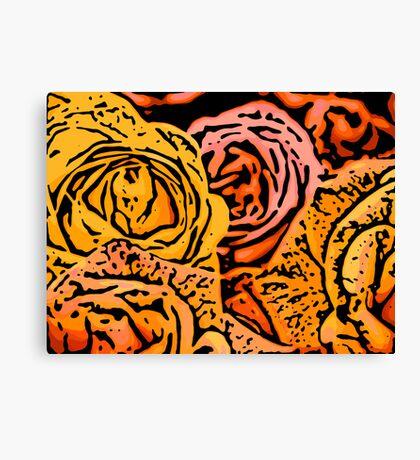 Cautious - Woodcut Canvas Print