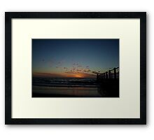 Chelsea Pier and Beach at Suset Framed Print