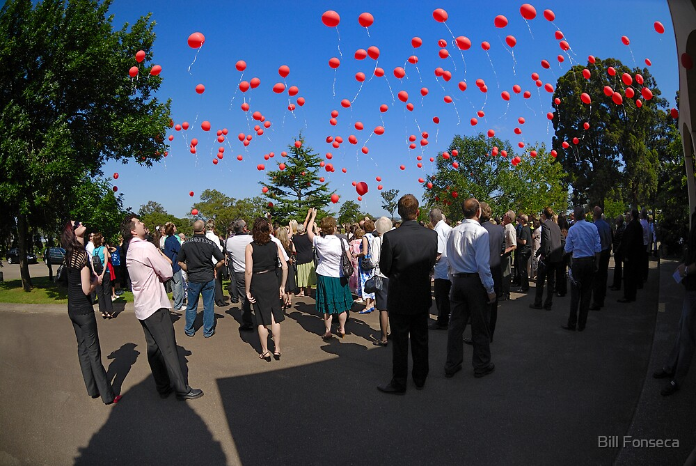 In Memory of Axel - Red Balloon Launch by Bill Fonseca