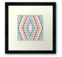 Triangles pattern Framed Print