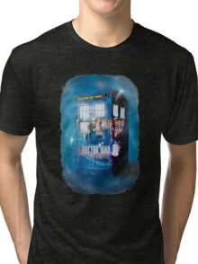 Blue Box Painting tee T-shirt / Hoodie Tri-blend T-Shirt