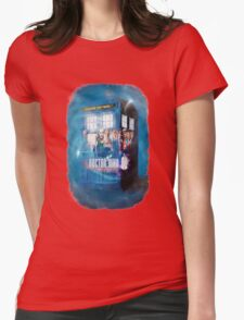 Blue Box Painting tee T-shirt / Hoodie Womens Fitted T-Shirt