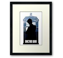 Dr. Who silhouette T-Shirt / Hoodie  Framed Print