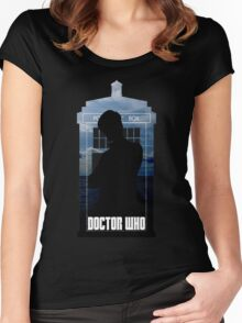 Dr. Who silhouette T-Shirt / Hoodie  Women's Fitted Scoop T-Shirt