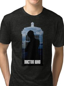 Dr. Who silhouette T-Shirt / Hoodie  Tri-blend T-Shirt